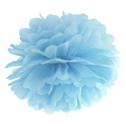 Light Misty Blue Tissue Paper Pompom
