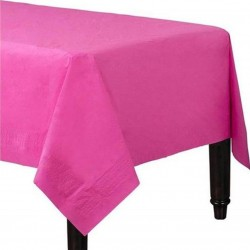 Bright Pink Tablecover,  Pink Paper Table covers