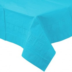 Caribbean Blue Paper Tablecovers, Blue Paper Table cloth