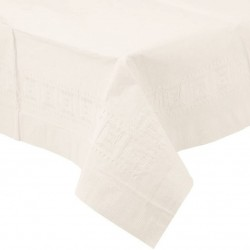 White Paper Tablecover,  White Plastic-Lined Paper Tablecover