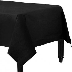 Black Paper Tablecovers, Black Plastic-Lined Paper Tablecover