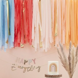 Multicoloured Pastel Streamer Backdrop