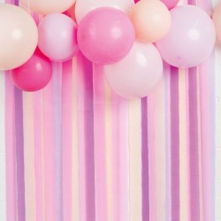 Pink and Purple Paper Party Streamers