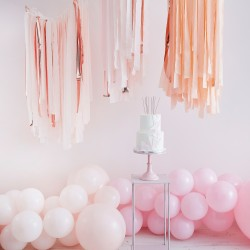 Blush And Rose Gold Streamer Ceiling Decoration