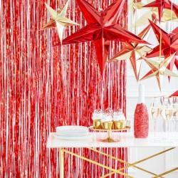 Red Foil Fringe Curtain Decoration