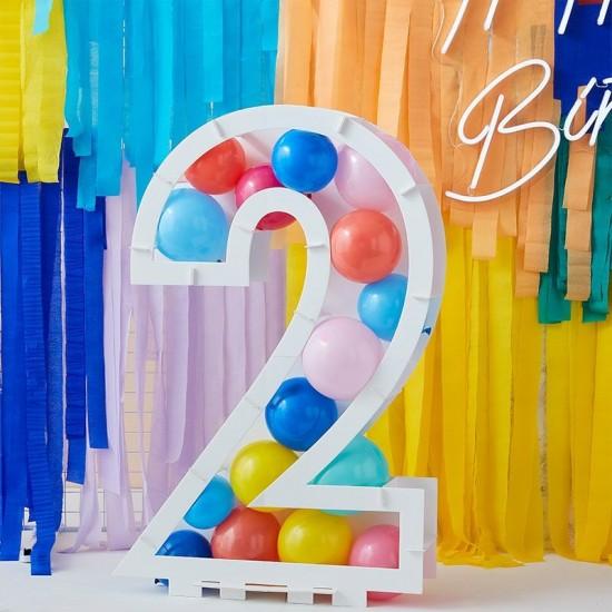 """Multi Coloured Balloon Mosaic Balloon Pack 5"""""""