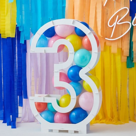 Balloon Mosaic Number Stand 3