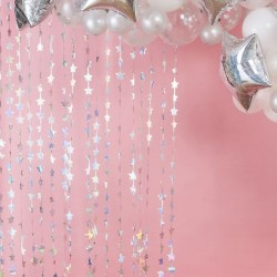 Iridescent Foil Star Hanging Backdrop Decoration