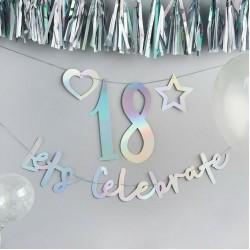Iridescent Create Your Own Banner, Birthday Banner