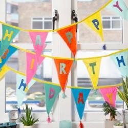 Rainbow Happy Birthday Fabric Bunting