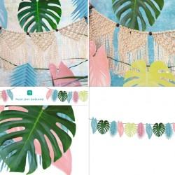 Tropical Palm Pastel Leaf Garland