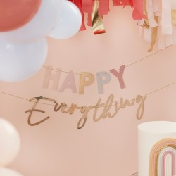 Pastel And Gold Happy Everything Party Bunting,