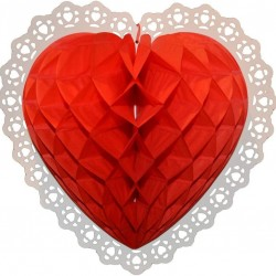 Heart Shaped Honeycomb Decoration, Valentines Day Decor