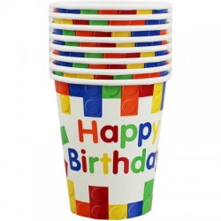 Building Blocks Birthday Party Cups