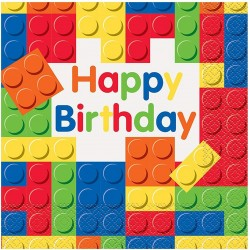 Building Blocks Birthday Party Napkins