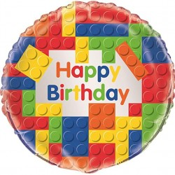 Building Blocks Birthday Party Balloon 18""