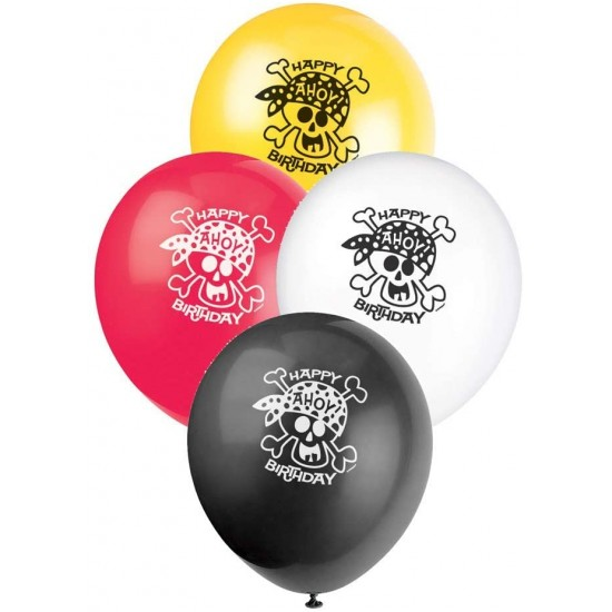 8 Pirate Party Birthday Balloons