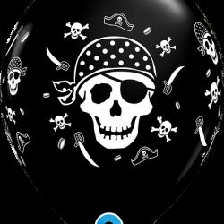 Pirate Skull & Cross Bones Latex Balloons 11 inch