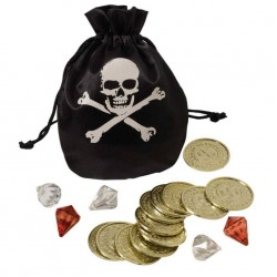 Pirate Coin & Pouch Set, Pirate Party Decorations
