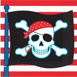 16 Pirate Party Paper Napkins