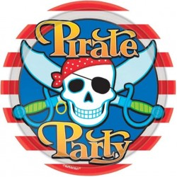 8 Pirate Party Paper Plate