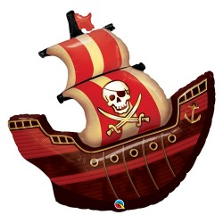 """Pirate Ship 40"""" Foil Helium Balloon - Pirate Party"""