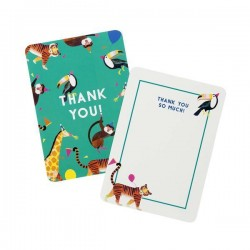 8 Party Animals Thank You Cards