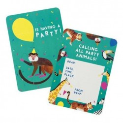 8 Party Animals Invitation Cards