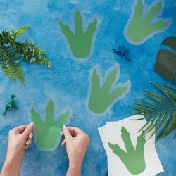 Dinosaur Party Footprint Sitckers