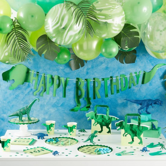 Blue And Green Confetti Balloons