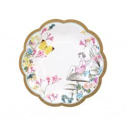 12 Truly Fairy Scallop Edge Plates