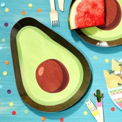 Avocado Shaped Paper Plates