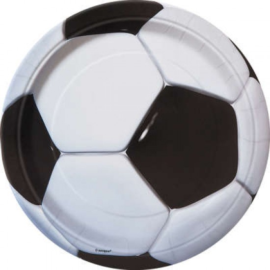 Soccer Round Plates