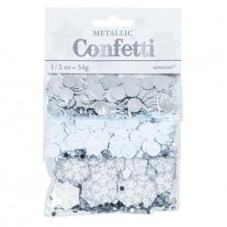 Snowflake Silver Sparkle Confetti