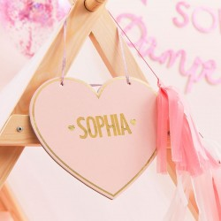 Customisable Pink Heart Tent Sign