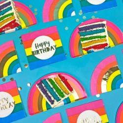 16 Birthday Brights Rainbow Happy Birthday Napkins