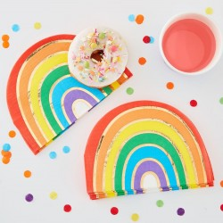 Gold Foiled Rainbow Party Napkins