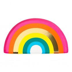 12 Birthday Brights Rainbow Shaped Plates