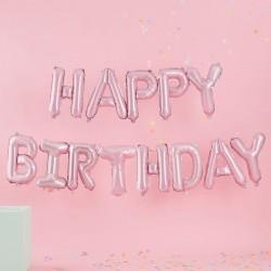Pink Birthday Bunting Balloons