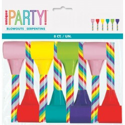 Multicoloured Party Blowouts