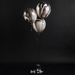 Black Marble Balloons