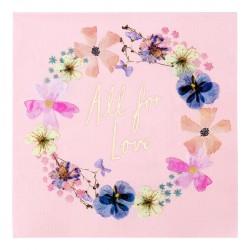 16 Blossom Bride Napkins