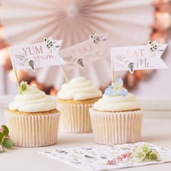 Afternoon Tea Cupcake Toppers