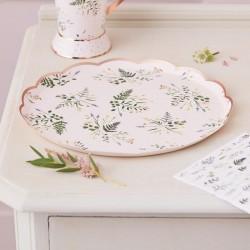 Floral Tea Party Paper Plates