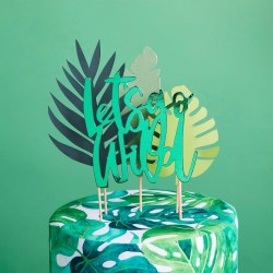 Let's Go Wild Tropical Cake Topper Set