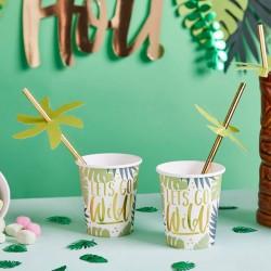 Tropical Leaf Paper Cups
