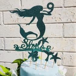 Mermaid Blue Cake Topper