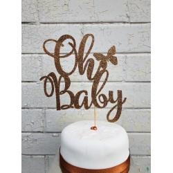 Oh Baby Glitter Cake Topper