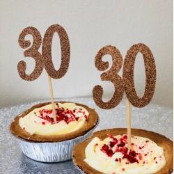 Age Cupcake Topper, Birthday Cupcake Topper