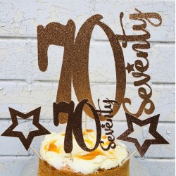 70th Birthday Cake Topper, 30th, 40th, 50th, 60th, 70th, 80th, 90th, 100th Birthday Cake Topper